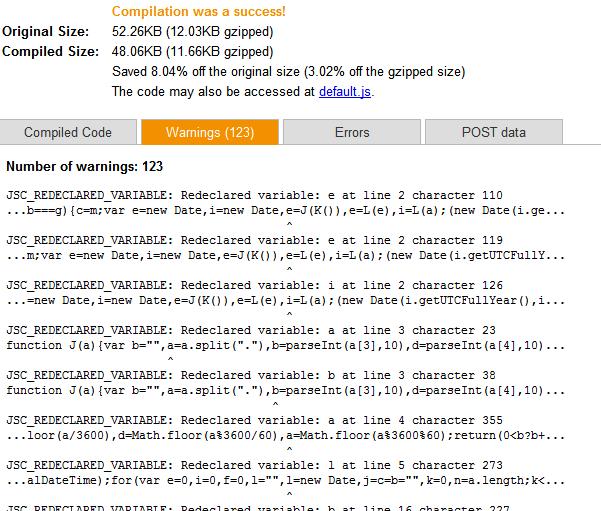 closure compiler error detection