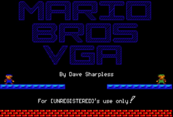 Vintage games - Mario Brothers
