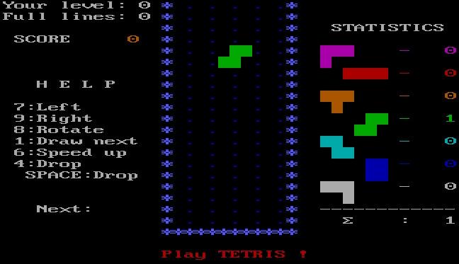 Vintage games - Tetris